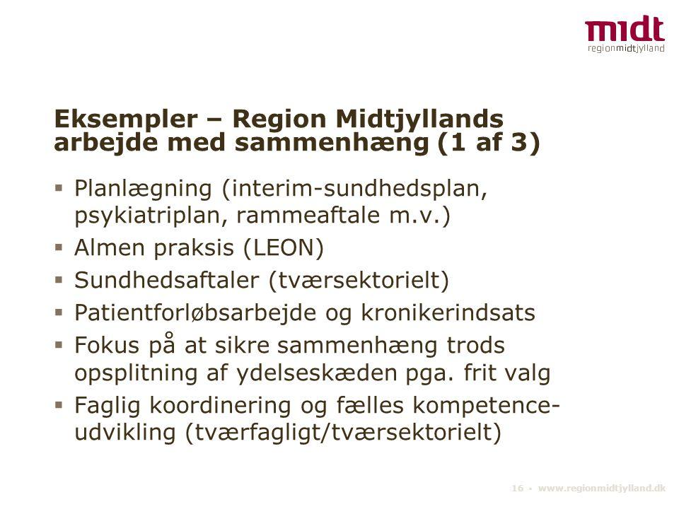 Eksempler – Region Midtjyllands arbejde med sammenhæng (1 af 3)