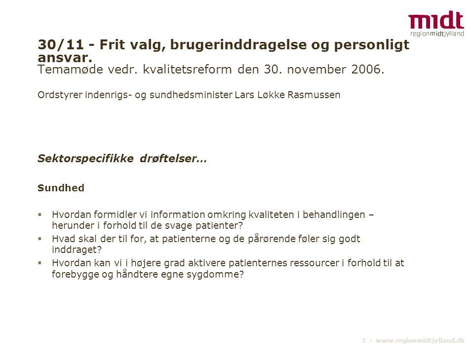 30/11 - Frit valg, brugerinddragelse og personligt ansvar