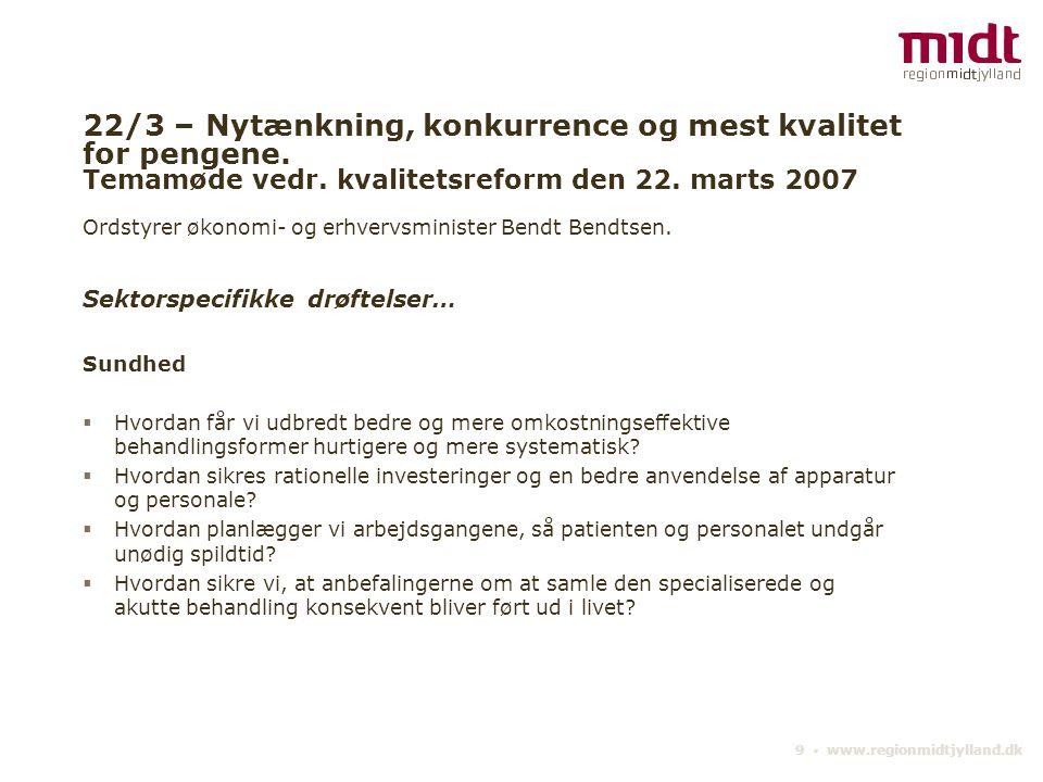 22/3 – Nytænkning, konkurrence og mest kvalitet for pengene