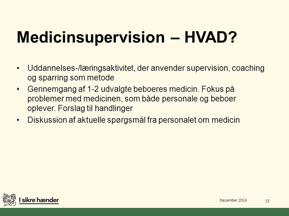 Medicinsupervision – HVAD