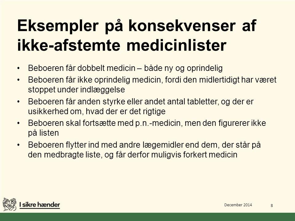 Eksempler på konsekvenser af ikke-afstemte medicinlister