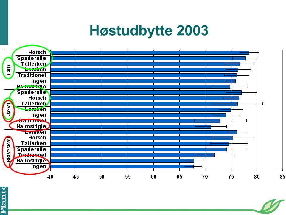 Høstudbytte 2003