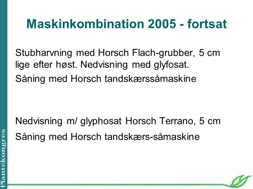 Maskinkombination 2005 - fortsat