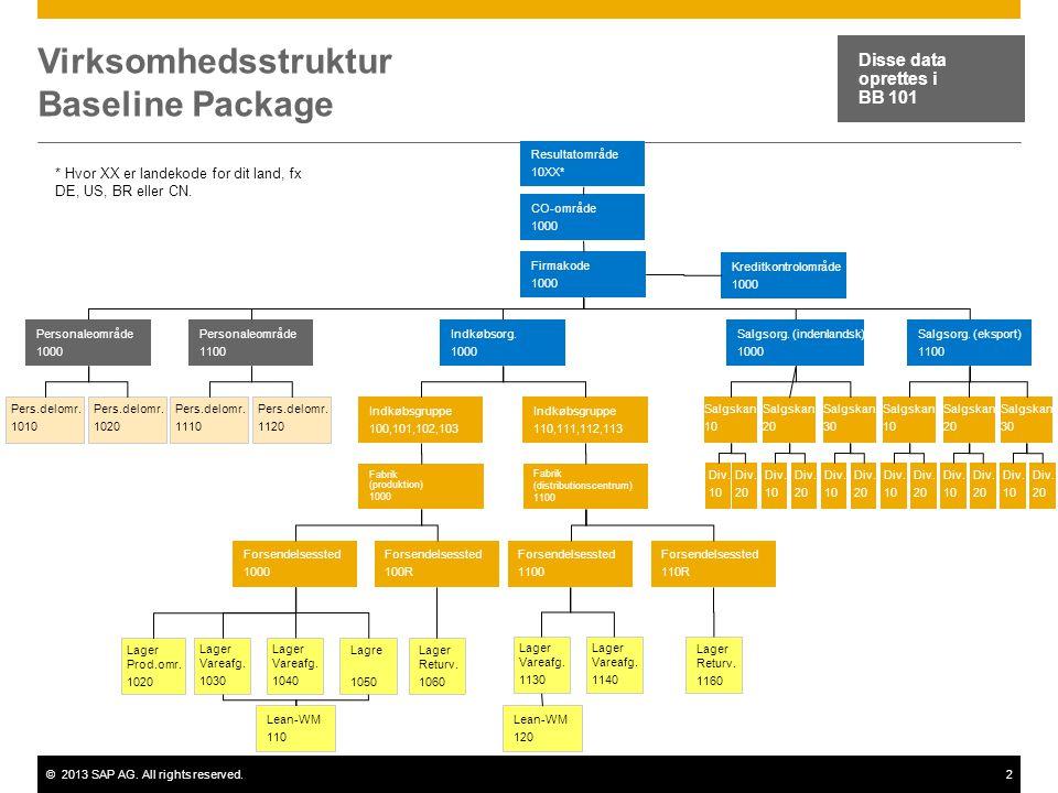 Virksomhedsstruktur Baseline Package