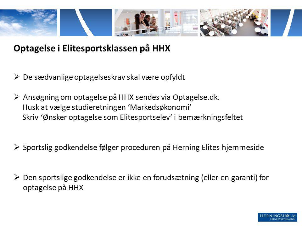 Optagelse i Elitesportsklassen på HHX