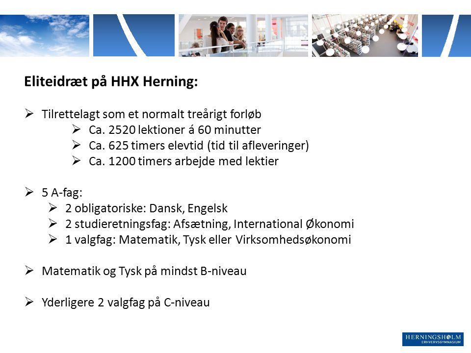 Eliteidræt på HHX Herning: