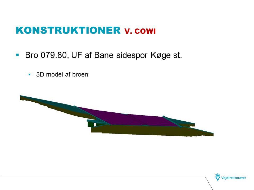 Konstruktioner v. cowi Bro 079.80, UF af Bane sidespor Køge st.
