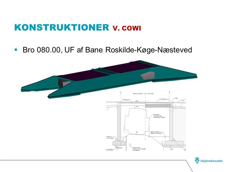 Konstruktioner v. COWI Bro 080.00, UF af Bane Roskilde-Køge-Næsteved