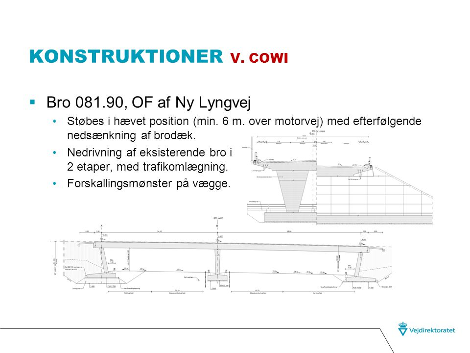Konstruktioner v. cowi Bro 081.90, OF af Ny Lyngvej