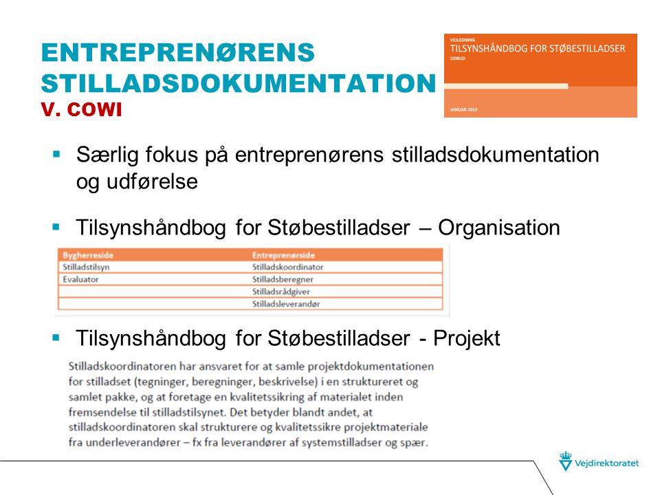 Entreprenørens stilladsdokumentation v. COWI
