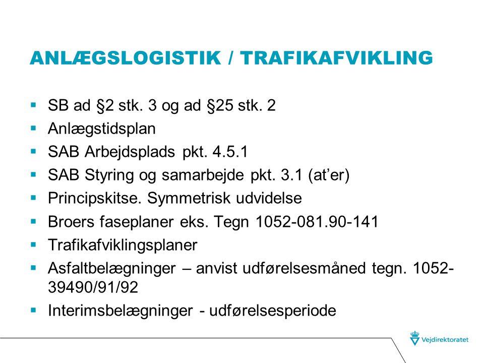 Anlægslogistik / trafikafvikling