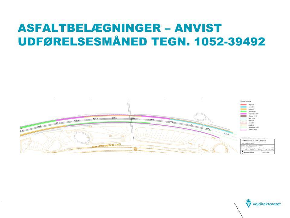 Asfaltbelægninger – anvist udførelsesmåned tegn. 1052-39492