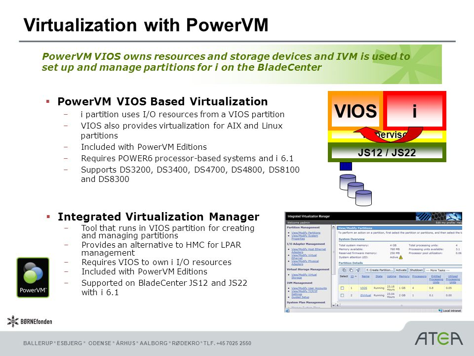 Virtualization with PowerVM