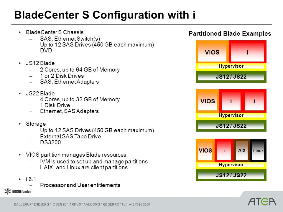BladeCenter S Configuration with i