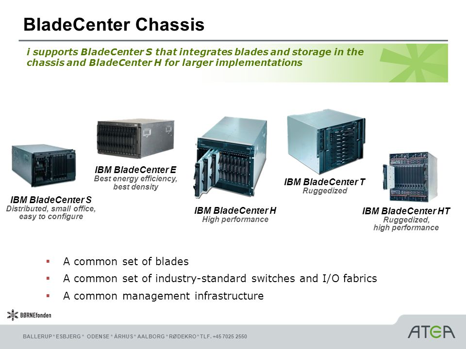 BladeCenter Chassis A common set of blades