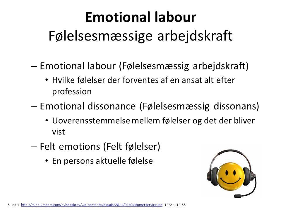 Emotional labour Følelsesmæssige arbejdskraft