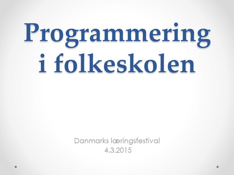 Programmering i folkeskolen