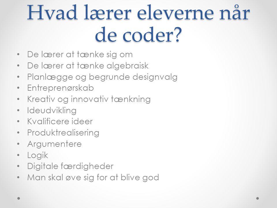 Hvad lærer eleverne når de coder