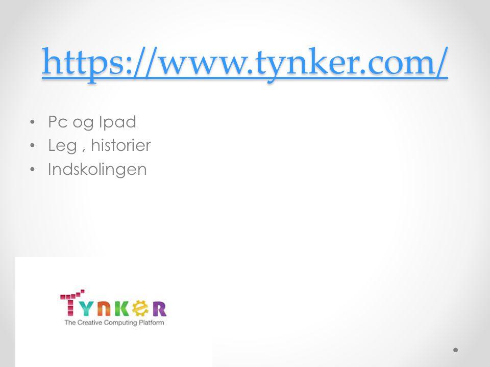 https://www.tynker.com/ Pc og Ipad Leg , historier Indskolingen