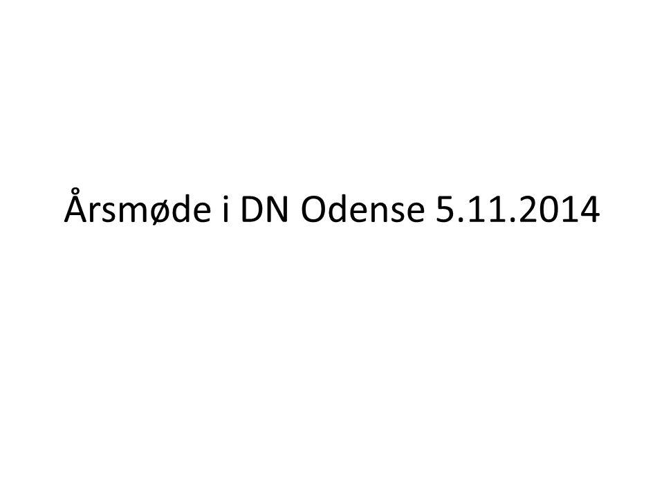 Årsmøde i DN Odense 5.11.2014