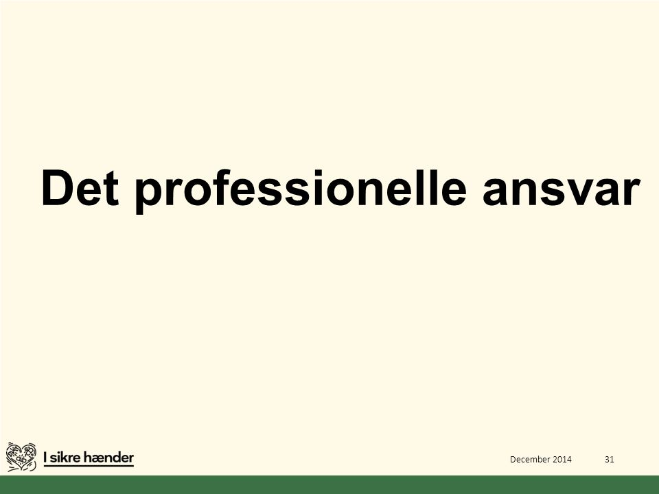Det professionelle ansvar