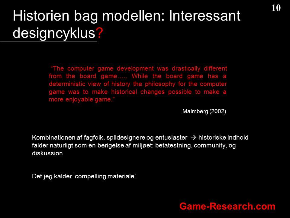 Historien bag modellen: Interessant designcyklus
