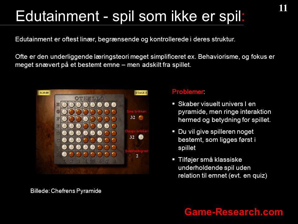 Edutainment - spil som ikke er spil: