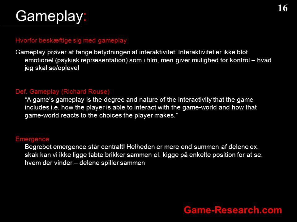 Gameplay: Hvorfor beskæftige sig med gameplay