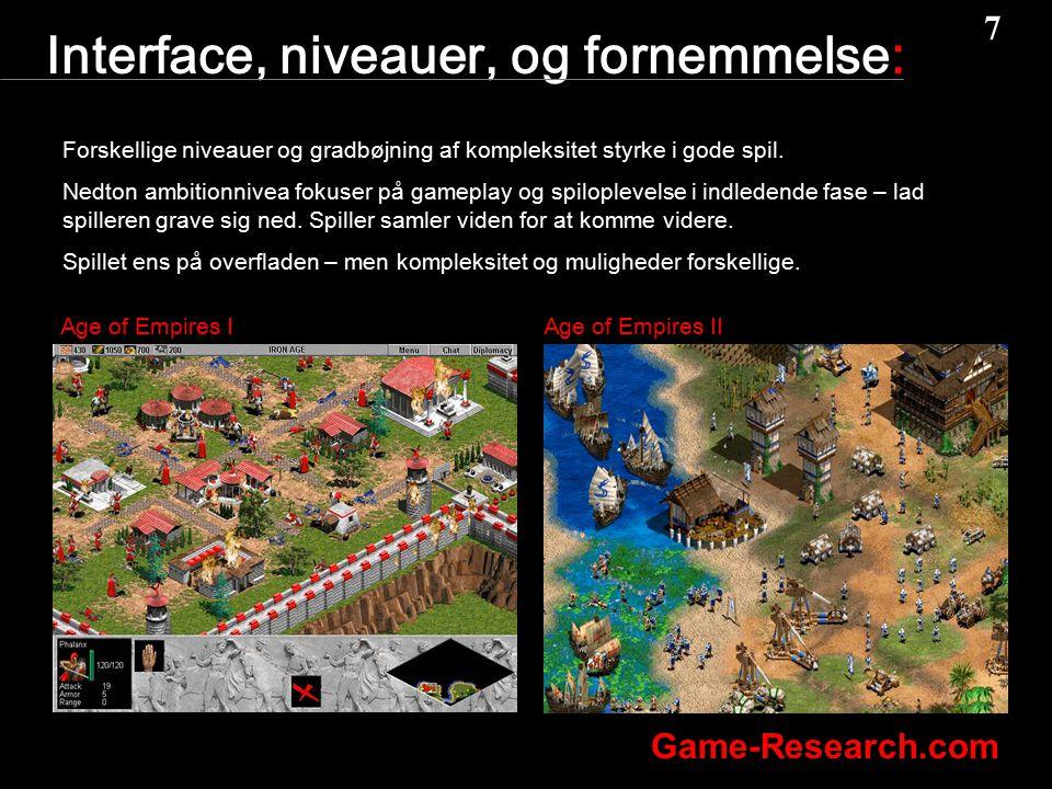 Interface, niveauer, og fornemmelse: