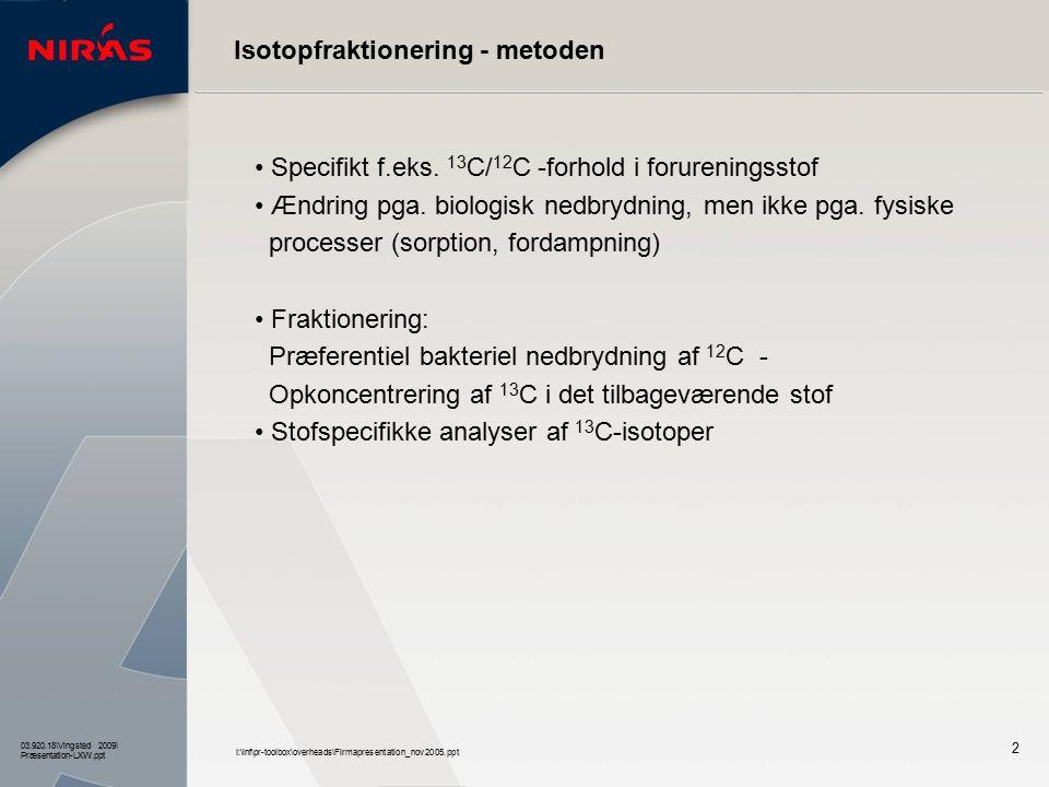 Isotopfraktionering - metoden