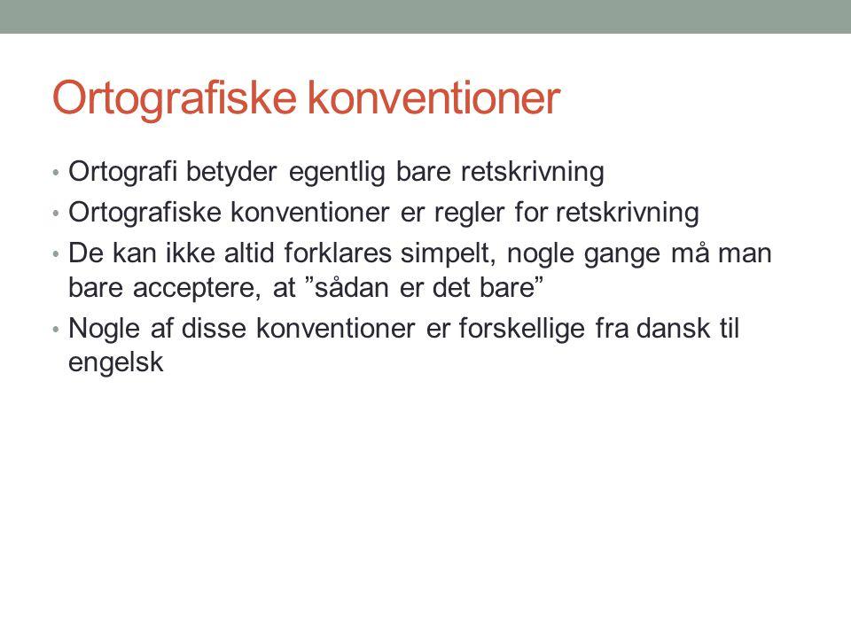 Ortografiske konventioner
