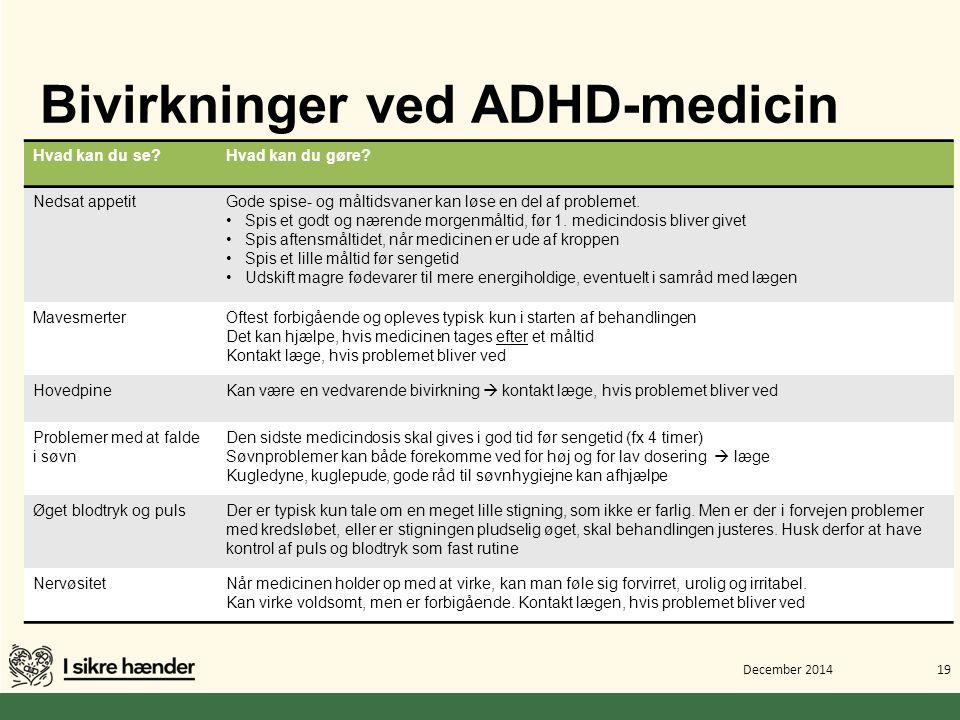 Bivirkninger ved ADHD-medicin