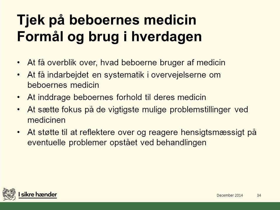 Tjek på beboernes medicin Formål og brug i hverdagen
