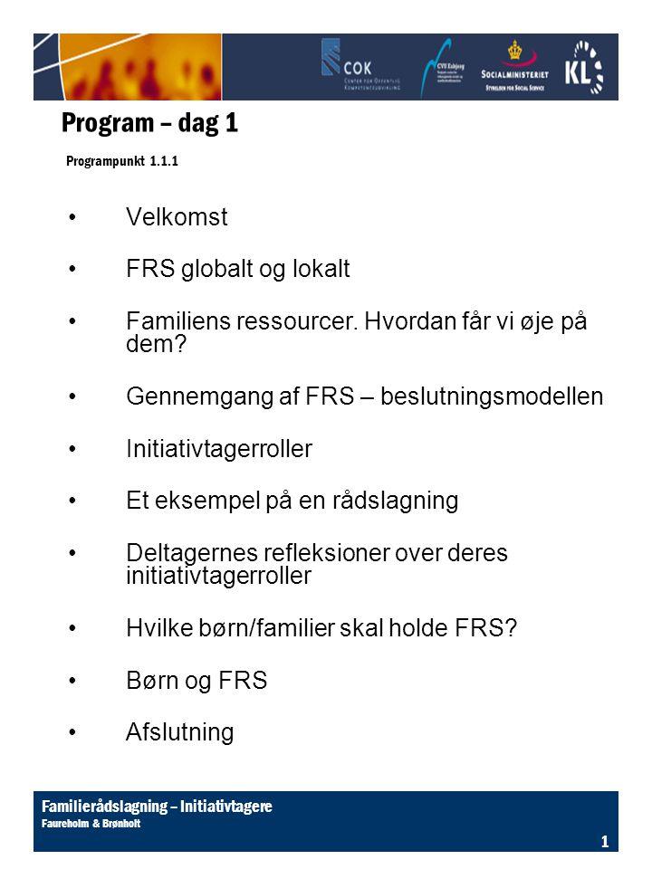 Program – dag 1 Programpunkt 1.1.1