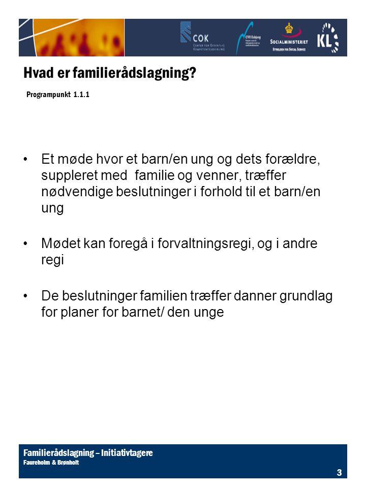 Hvad er familierådslagning Programpunkt 1.1.1