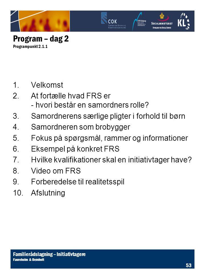 Program – dag 2 Programpunkt 2.1.1