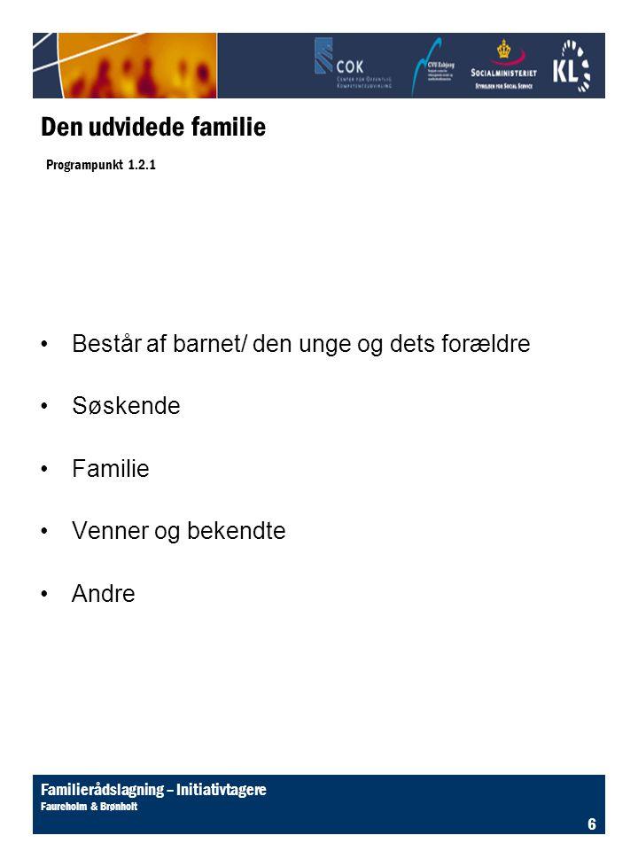 Den udvidede familie Programpunkt 1.2.1