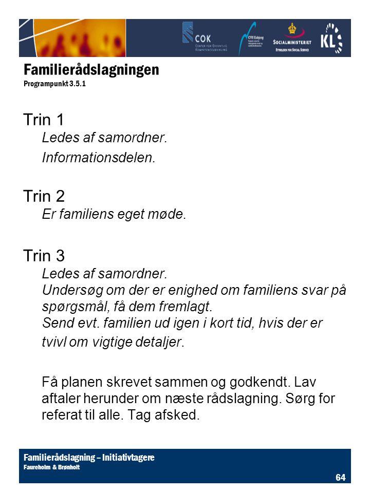 Familierådslagningen Programpunkt 3.5.1