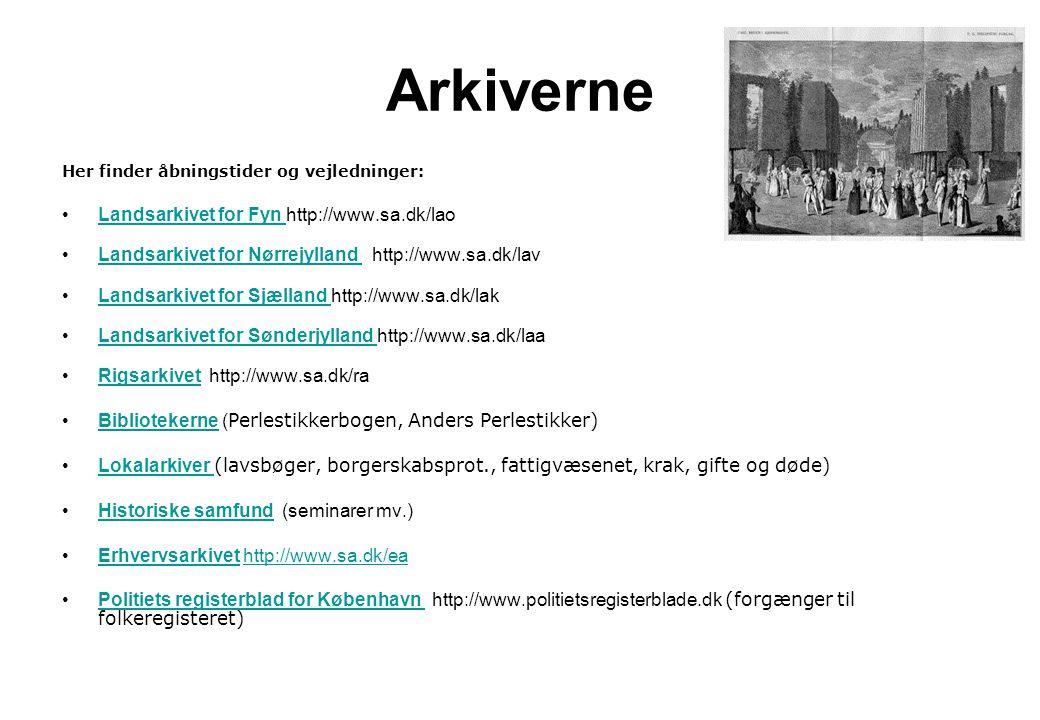 Arkiverne Landsarkivet for Fyn http://www.sa.dk/lao