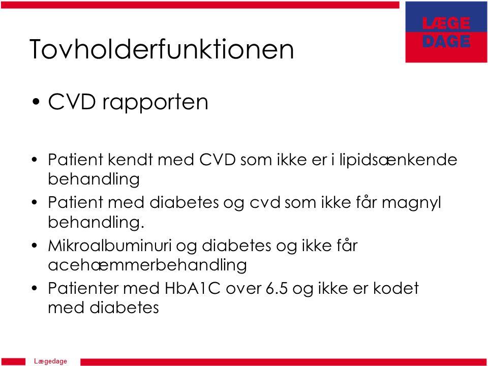 Tovholderfunktionen CVD rapporten