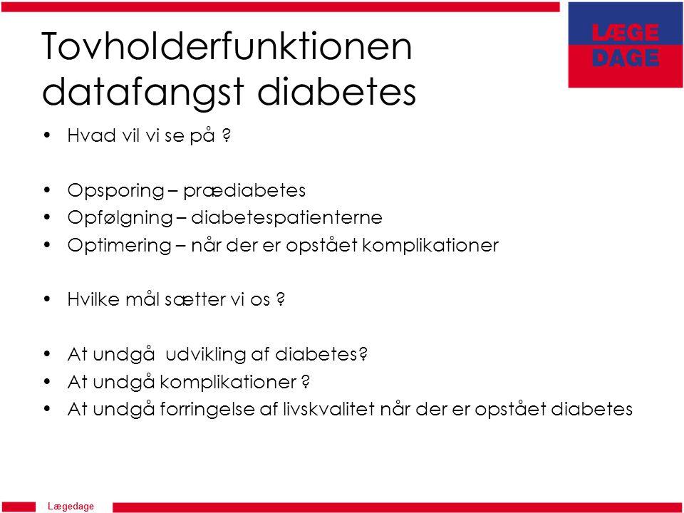Tovholderfunktionen datafangst diabetes