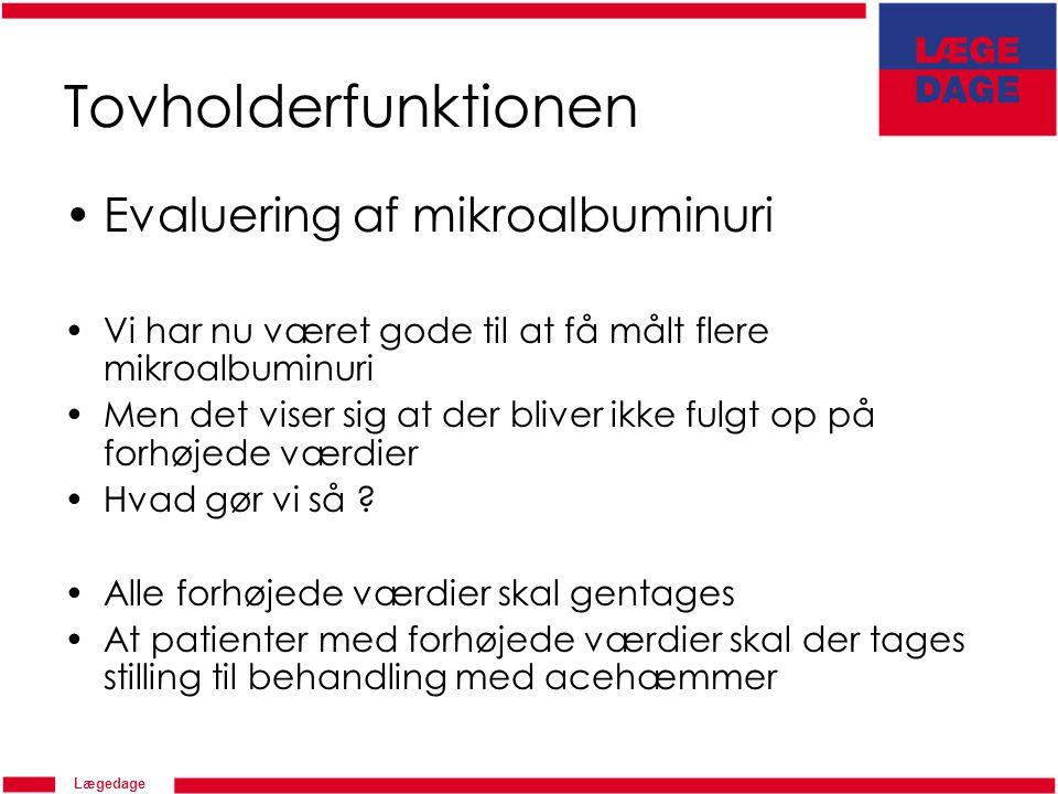 Tovholderfunktionen Evaluering af mikroalbuminuri
