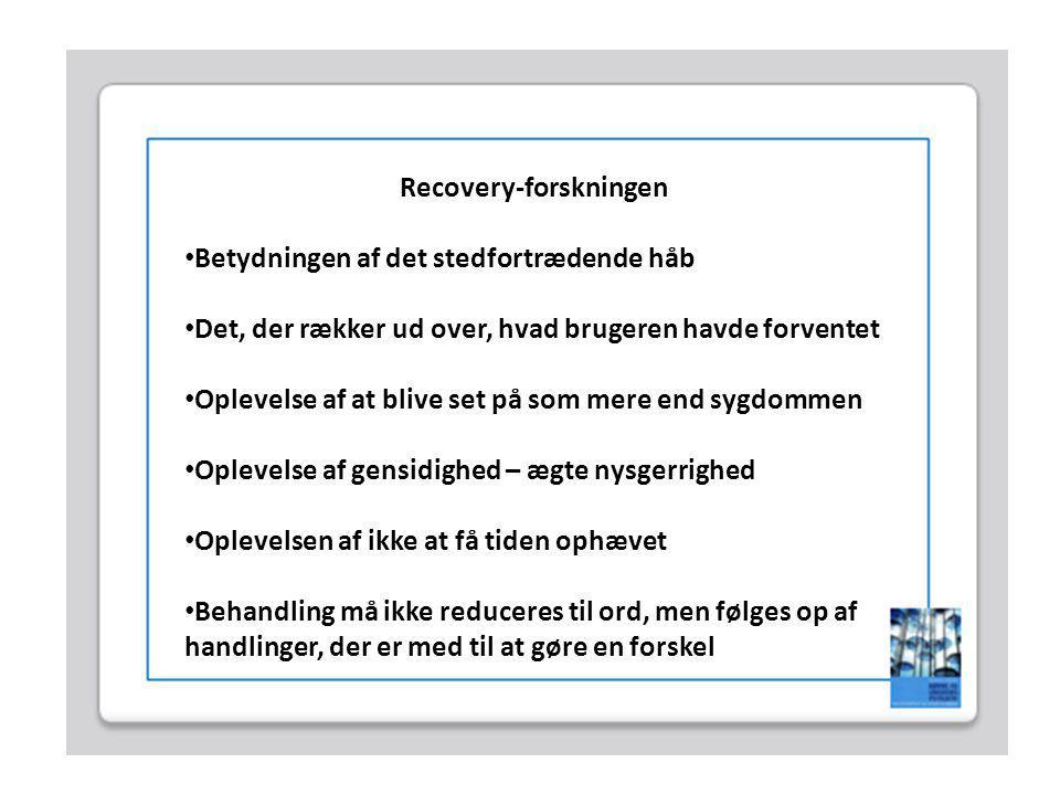 Recovery-forskningen