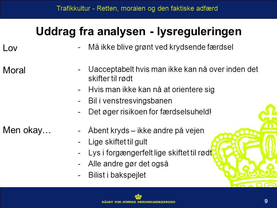 Uddrag fra analysen - lysreguleringen