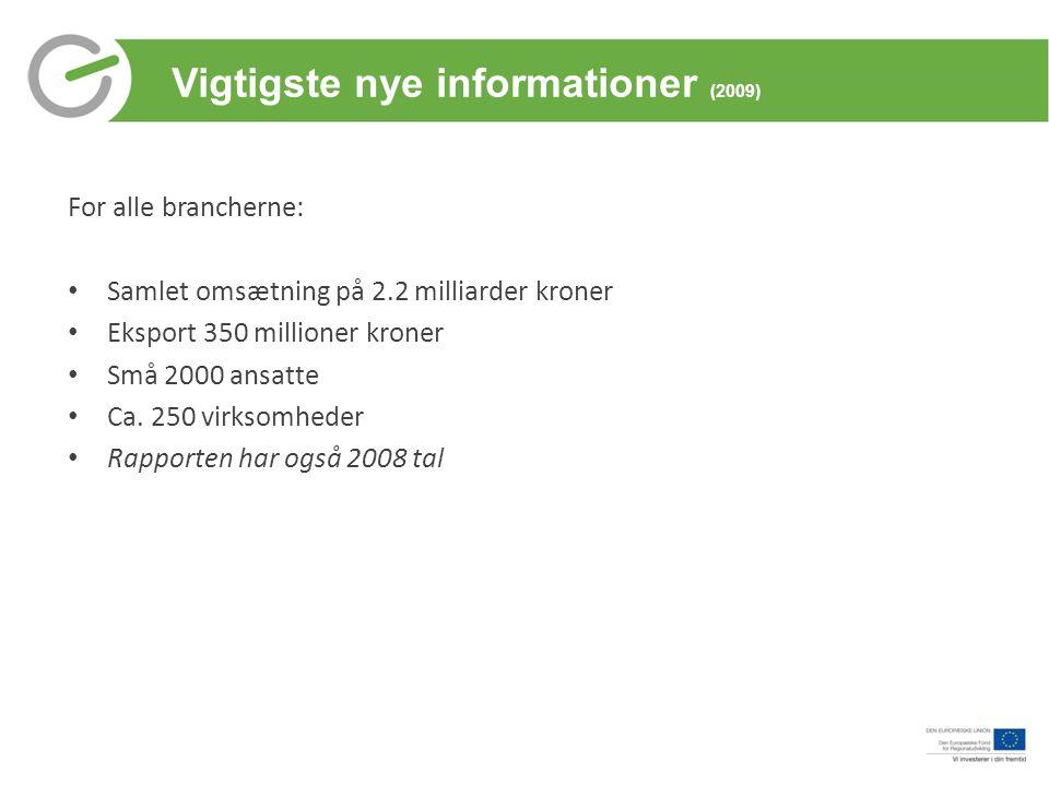 Vigtigste nye informationer (2009)