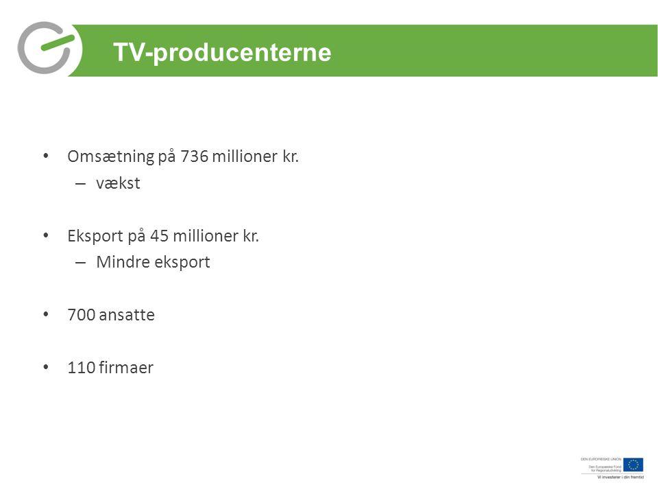 TV-producenterne Omsætning på 736 millioner kr. vækst
