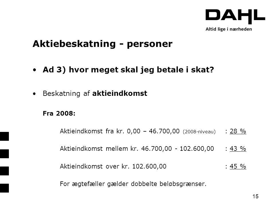 Aktiebeskatning - personer