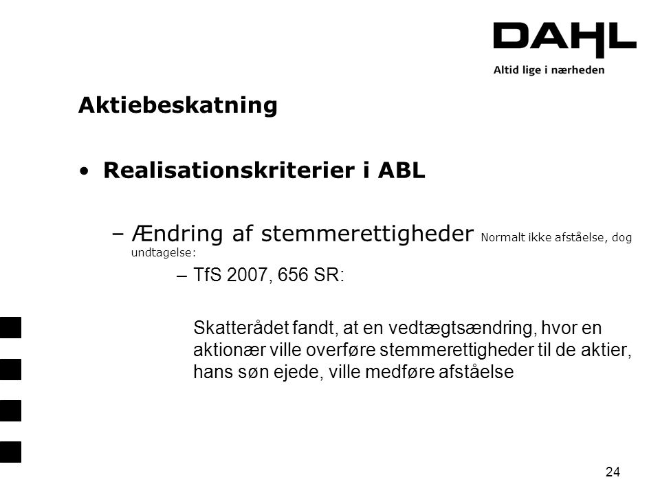 Realisationskriterier i ABL