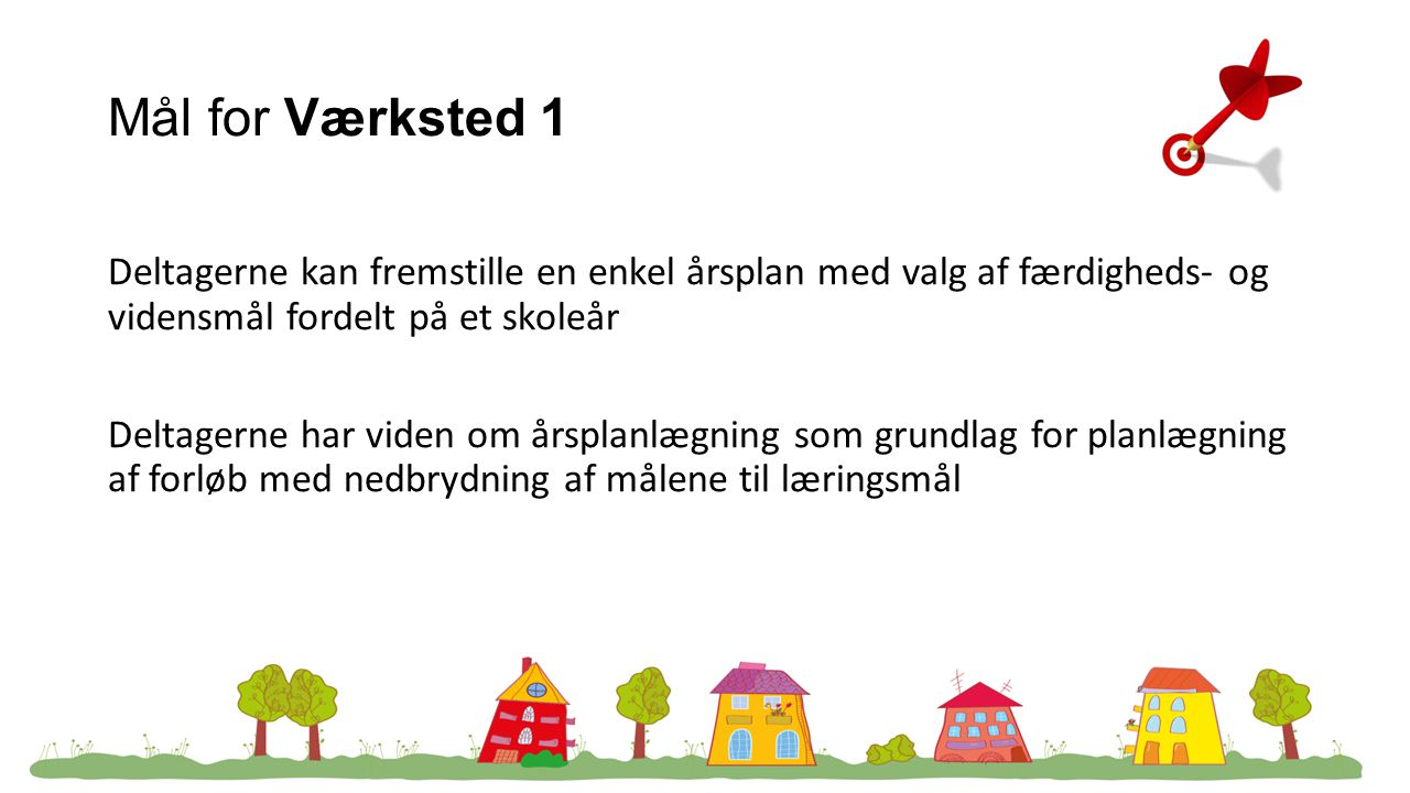 Mål for Værksted 1