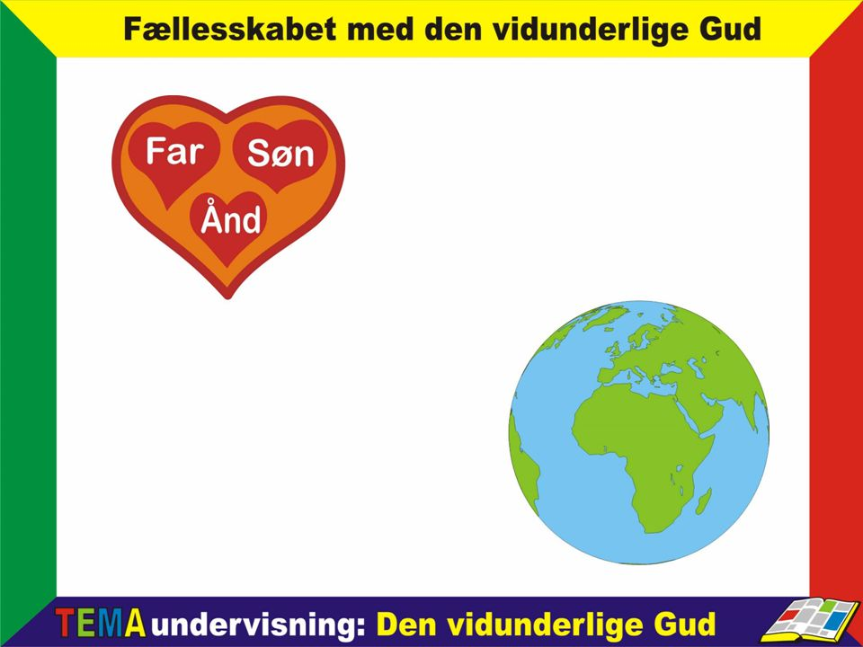 Noget forenklet kan vi stille det op således: Gud ønsker at frelse verden